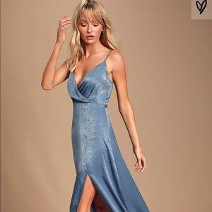 Lulus Slate Blue Maxi Dress